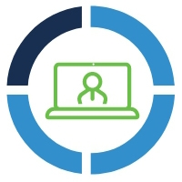 Desktop Video Chat Technology Icon